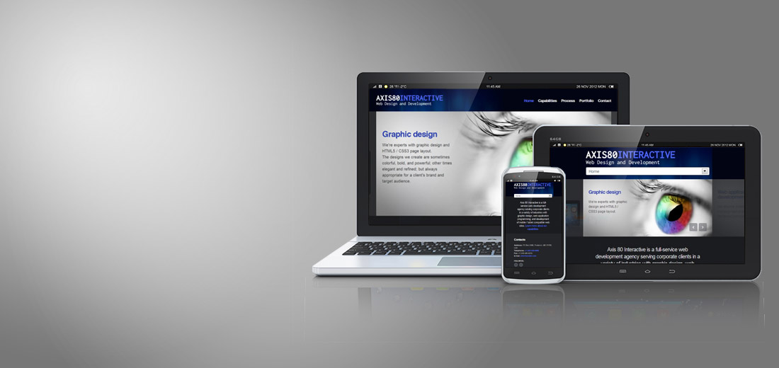Responsive design: mobile and tablet compatible web sites
